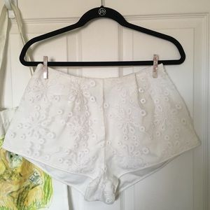 Nasty Gal Floral Tap Shorts